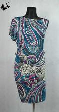 Letní barevné veselé šaty vel 36-38, 36