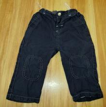 Podšité plátěné kalhoty, baby,80