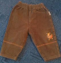 Kalhoty hrubý manchster ve. 68, loana,68