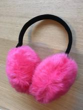 Plyšové růžové klapky na uši, 110