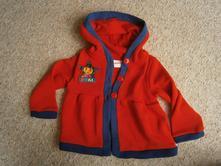 Teplejší svetřík-kabátek s dorou 98-104, 98