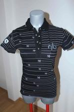 Černé triko s límečkem a fialovými proužky , nordblanc,40