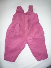 Vyteplené kalhoty s lacly, růžové, málo nošené, 68