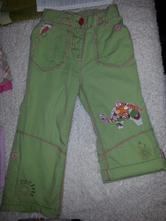 Lehké kalhoty s knoflíkem na 3/4 , next,104