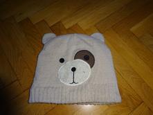 Medvídková čepice s ouškama 122/128, h&m,122