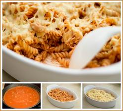 Rajčatovo-smetanové těstoviny s kuřetem