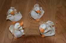 4 kachny -dekorace,
