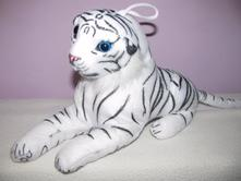 Plyšová hračka-bílý tygr,,belgie,