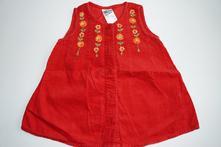 Manžestrové rozepínací šaty, bhs baby, 0-3m, 62