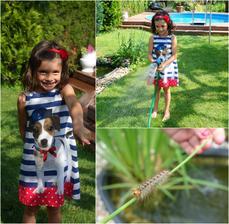 Při zalévání zahrady jsme našly takovou velkou chlupatou housenku :-)