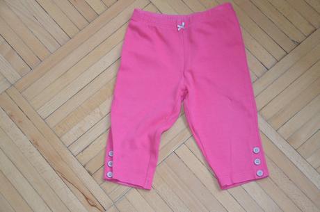 Růžové kraťasy (3/4 leginy) carters, carter's,80