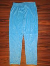 Tyrkysově modré sametové teplákové kalhoty, 152