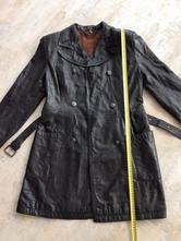 Černý army kabát pravá kůže zn.elazar vel. 36-38, s