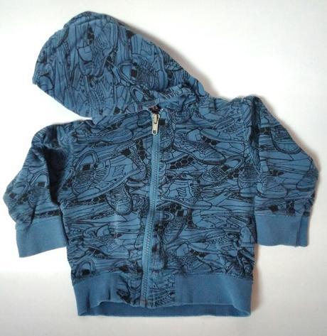 P26 - modrá mikina botky, 80