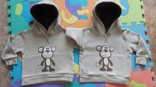 Opičkové mikiny pro dvojčata, 92