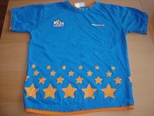 Modré tričko first choice s hvězdičkama, 122