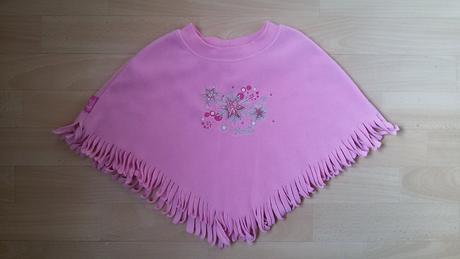 Růžové pončo s hvězdičkami, barbie,98