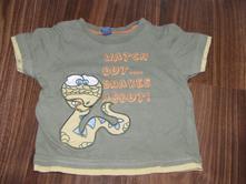 Khaki tričko s hadem zn. tu vel. 80/86, tu,80