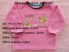 Fleecová mikina zn. baby, baby,74