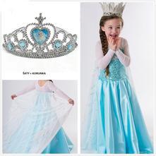 Set 3 - frozen-ledové království. (šaty + korunka), 98 - 140