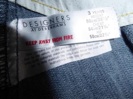 Riflové propínací šaty, debenhams,98
