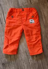 Oranžové vyteplené kalhoty s liškou, ergee,74