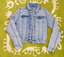 Dívčí džínová riflová bunda, h&m,164