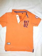 Oranžové límečkové tričko od nextu - prošívané, next,122