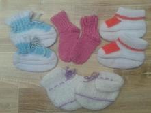 Pletené ponožky/bačkůrky , 17