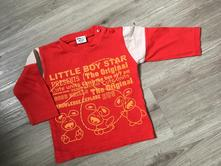 Červené tričko little boy star 74/6-9m, little star,74