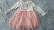 Krásné šaty s tutu sukní a dlouhým rukávem, pepco,80