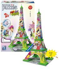 Puzzle eifellova věž pop art, 216 dílků,