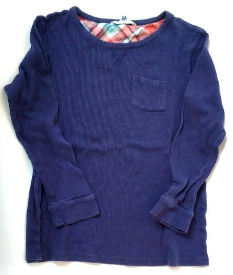 S80 - tmavě modré tričko žebrové, john lewis,146