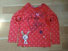 Puntikované tričko se zajíčkem, next,92
