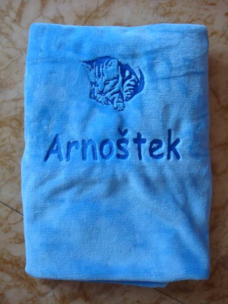 Heboučká deka s výšivkou na vaše přání-více barev,