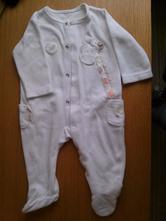 Teplý sametkový overal/pyžamko, 68