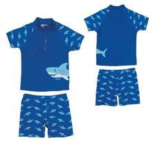 Playshoes koupací plážový komplet žralok upf50+, playshoes,74 - 140