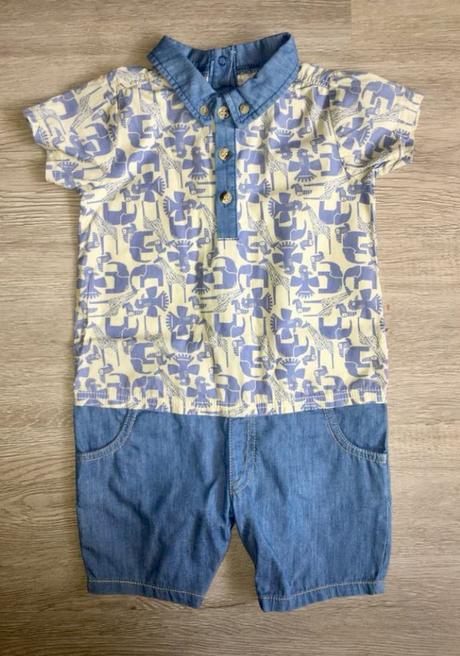 Letní overal (džíny+košile) - vel. 86, bows & arrows,86