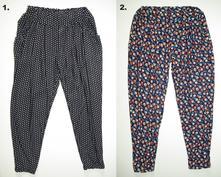 Letní kalhoty haremky, 104 - 164