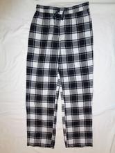 Super kostičkované černobílé flanelové kalhoty, pepperts,134 / 140