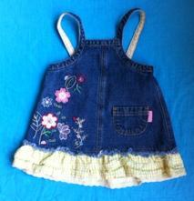 Riflové šaty, mini mode,62