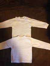 Bílé trika s dlouhým rukávem s volánkem, 62
