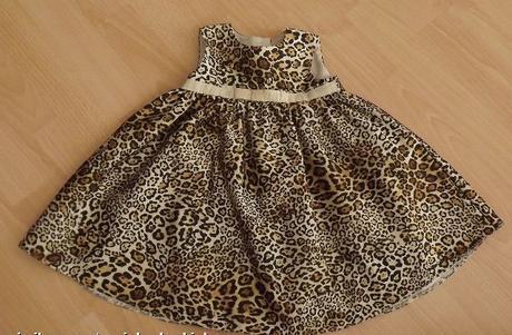 Společenské slavnostní šaty s leopardím motivem, george,74