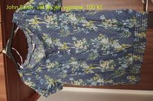 Květované tričko, bonprix,46