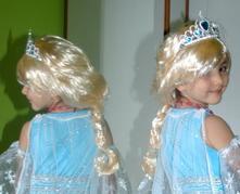 Paruka karnevalová blond anděl, princezna, elsa...,