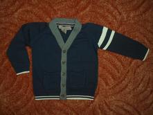 Modrý svetr svetřík vesta h&m, h&m,86