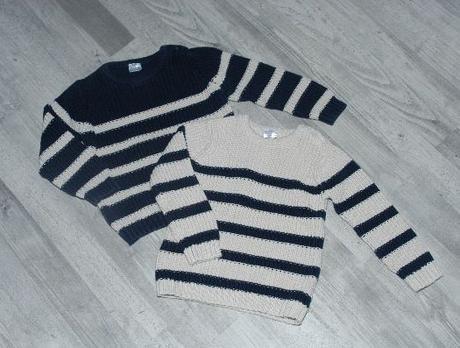2 x teplý bavlněný svetr cena za oba, f&f,92