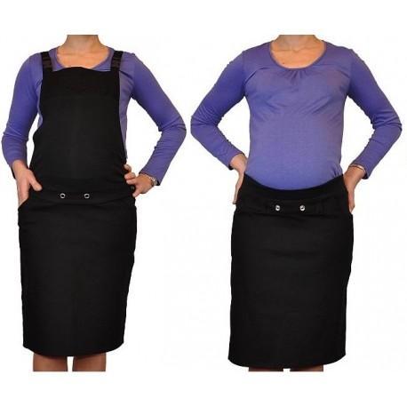 890a6739c04 Těhotenské šaty sukně s láclem - černé