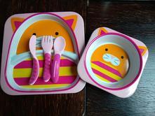 Skip hop jídelní set kočička + příbor mam,