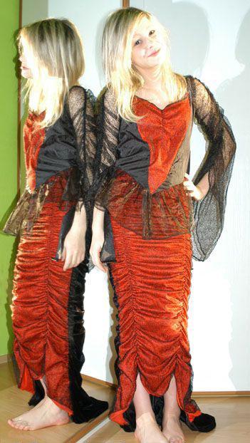 Karnevalové šaty zlá královna,čertice,čarodějnice,